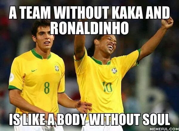 Kaka is in World Cup Heart (source: page facebook)